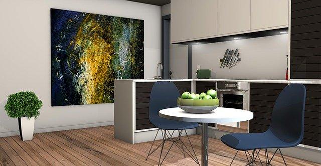 kuchyně v bytě