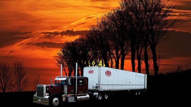 kamion v přírodě