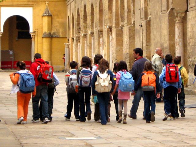 školní výlet na cestě za poznáním